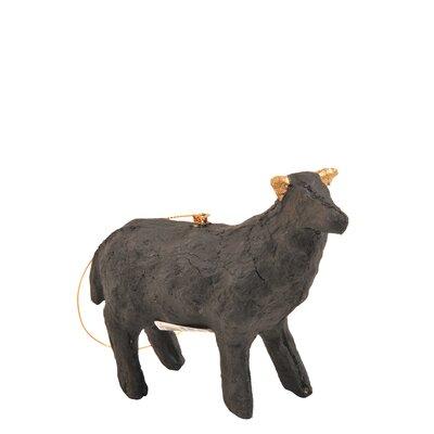 Paper Mach Sheep Ornament