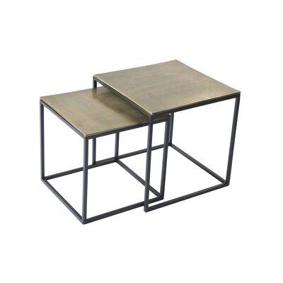 2 Piece Iron/Aluminum End Table Set