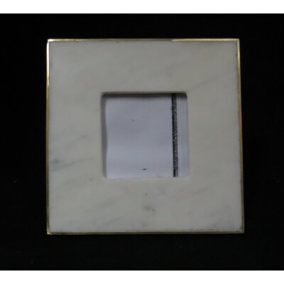 Marble And Glass Picture Frame Size: Medium