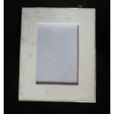 Marble And Glass Picture Frame Size: Large