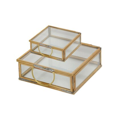 2 Piece Square Decorative Box Set