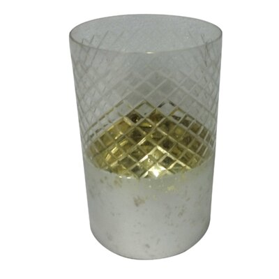 Hexagon Diamond Cut Glass Cycliner Table Vase Size: Large
