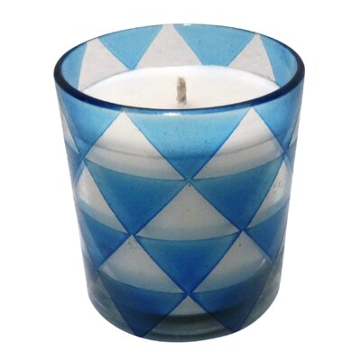 Triangle Glass Designer Candle Color: Blue, Size: Large 89597