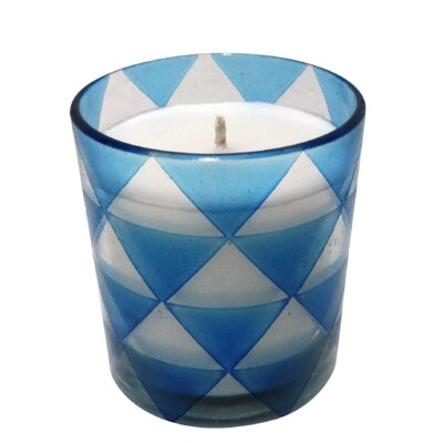 Triangle Glass Designer Candle Color: Brown, Size: Large 89599