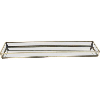 Glass Rectangle Tray Size: Large