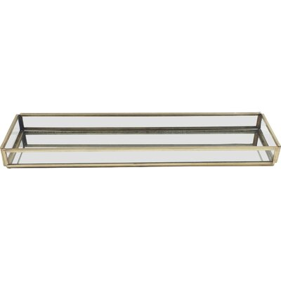 Glass Rectangle Tray Size: Small
