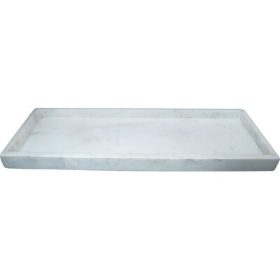 High Wall Agra Rectangle Marble Serving Tray 20152