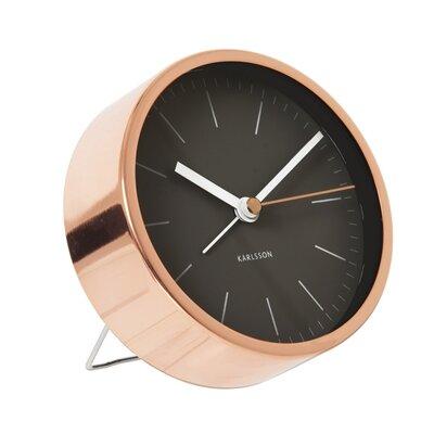 Minimal Tabletop Alarm Clock Finish: Black