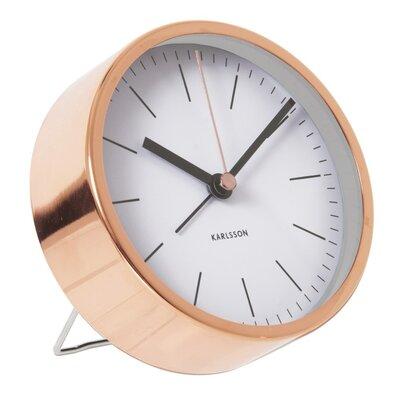 Minimal Tabletop Alarm Clock Finish: White