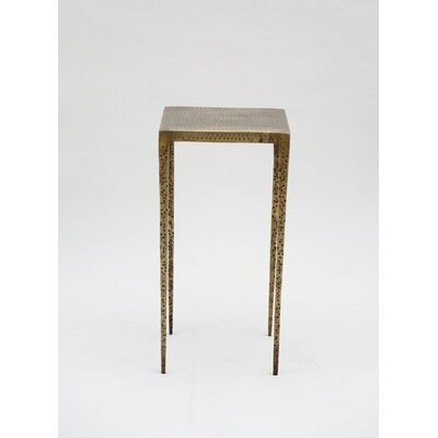 Mickinley Square Iron Hammered End Table