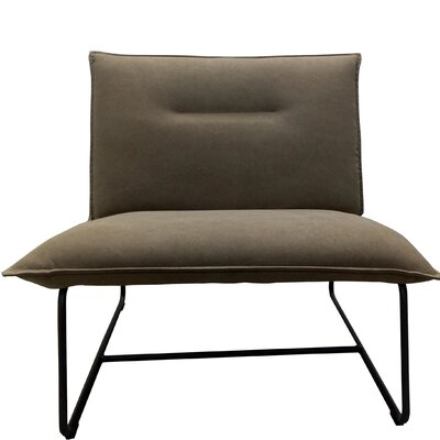 Belvin Lounge Chair Upholstery: Light Brown