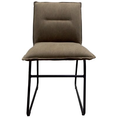 Belvin Side Chair Upholstery: Light Brown