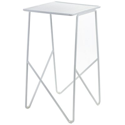 Alto White Steel End Table