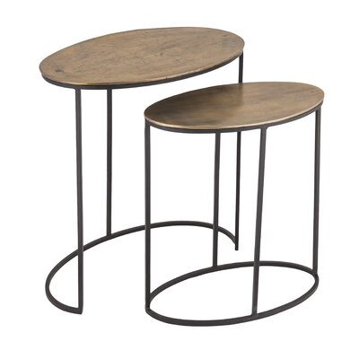 Briones Oval 2 Piece Nesting Tables