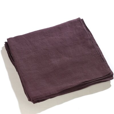 Carmon Aubergine 100% Real Linen Pillow Case Color: Aubergine