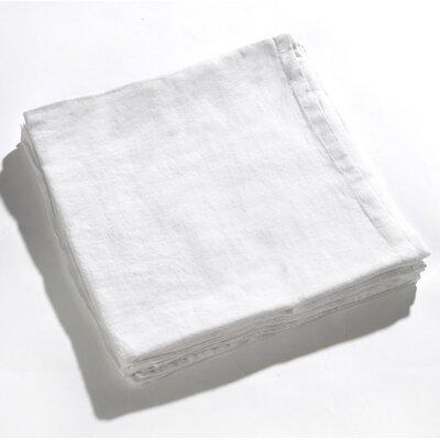 Carmon Aubergine 100% Real Linen Pillow Case Color: White