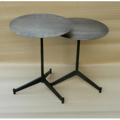 Croxton Iron Round End Table