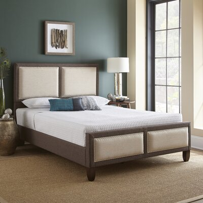 Knapp Queen Upholstered Platform Bed Color: Tan