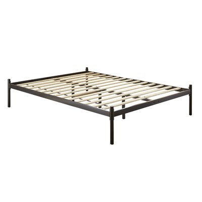 Barra Metal Platform Bed Color: Black, Size: California King