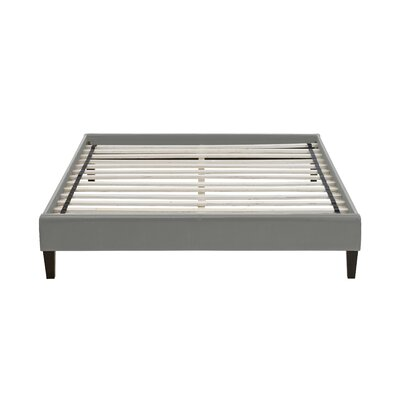 Branson Upholstered Platform Bed Color: Gray, Size: Full/Double