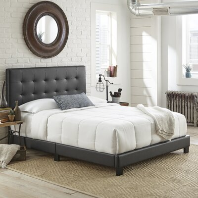 Roder Upholstered Platform Bed Color: Black, Size: Queen