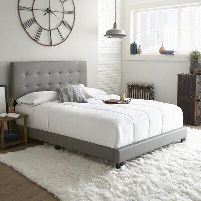 Roder Upholstered Platform Bed Color: Gray, Size: Full/Double