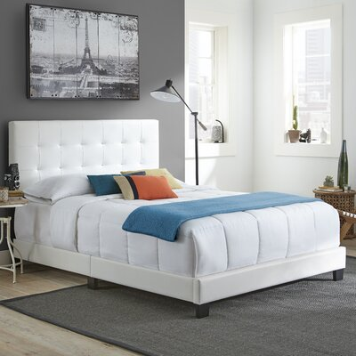 Roder Upholstered Platform Bed Color: White, Size: Full/Double