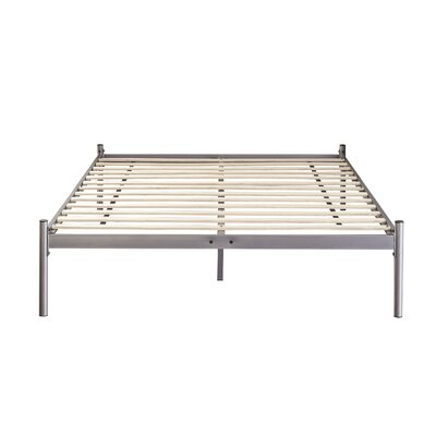 Barra Metal Platform Bed Color: Silver, Size: Queen