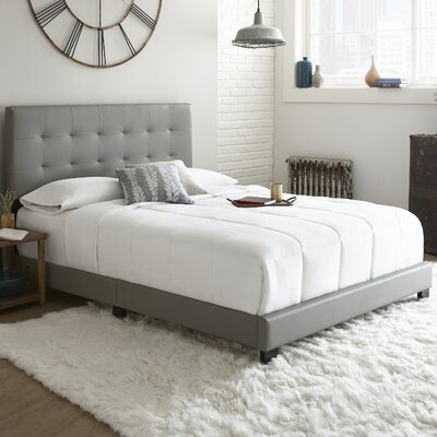 Roder Upholstered Platform Bed Color: Gray, Size: Queen