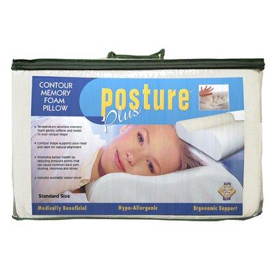 Posture Plus Contour Memory Foam Standard Pillow