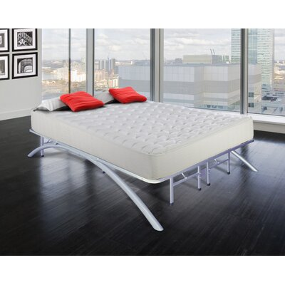 Arch Platform Bed Frame Size: Twin, Finish: Silver