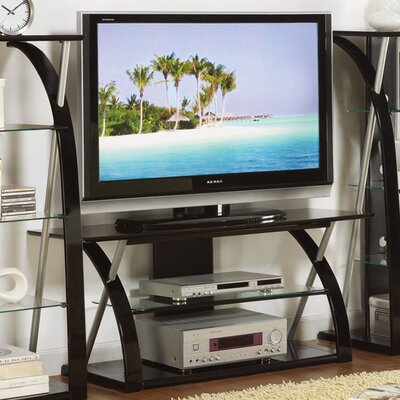 Bobkona Jasper 48 TV Stand Color: Black