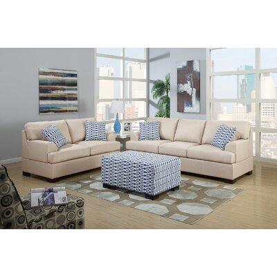 Poundex Y798788 Bobkona Montega Microfiber Sofa and Loveseat Set Upholstery