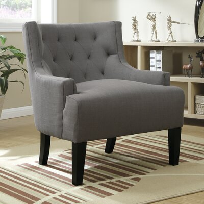 Hemphill Wingback Chair Upholstery: Grey