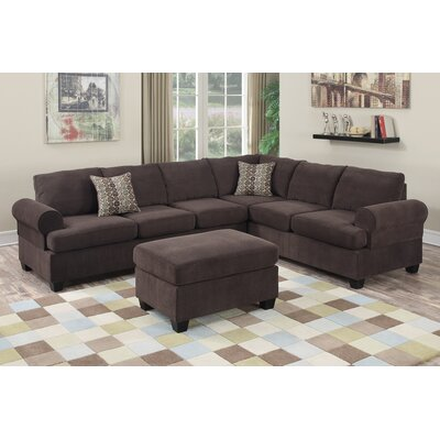 Poundex F7129 Bobkona Salerno Sectional
