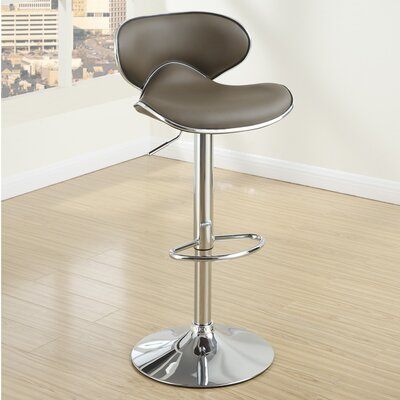 Adjustable Height Swivel Bar Stool (Set of 2) Upholstery: Espresso