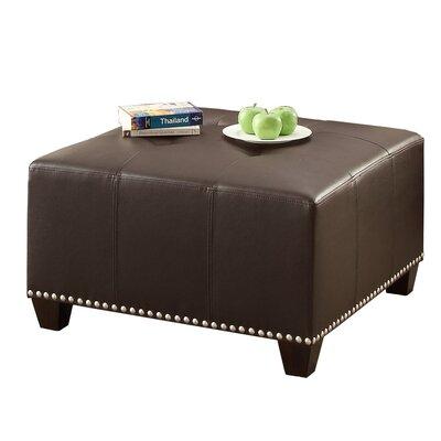 Bobkona Cady Leather Ottoman Upholstery: Espresso