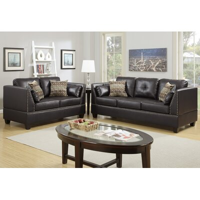 Poundex F6915 Bobkona Zenda Sofa and Loveseat Set Upholstery