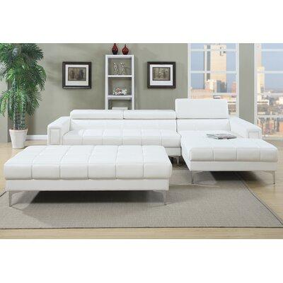 Poundex F7364 Bobkona Hayden Sectional Upholstery