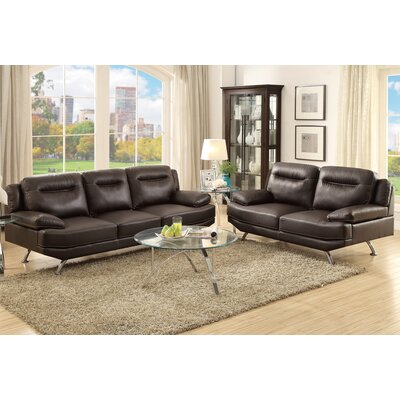 Poundex F7927 Bobkona Danville 2 Piece Sofa and Loveseat Set Upholstery