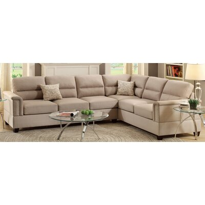 Poundex F7860 Bobkona Parrish Reversible Sectional Upholstery