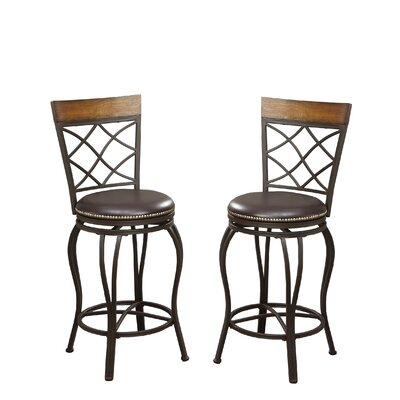 Bobkona Lorelei 24 Swivel Bar Stool