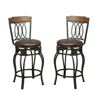 Bobkona Earline 24 Swivel Bar Stool