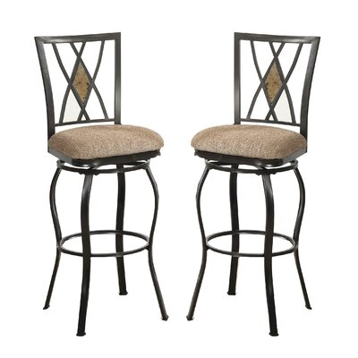 Bobkona Faye 29 Swivel Bar Stool