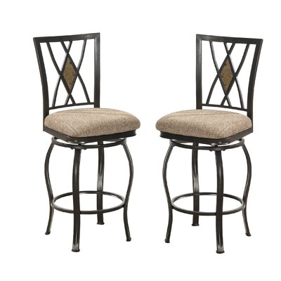 Bobkona Faye 24 Swivel Bar Stool