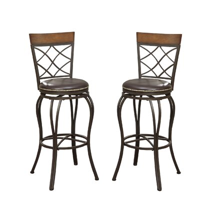 Bobkona Lorelei 29 Swivel Bar Stool