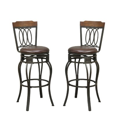 Bobkona Earline 29 Swivel Bar Stool