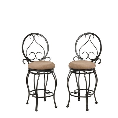 Bobkona Oswell 24 Swivel Bar Stool