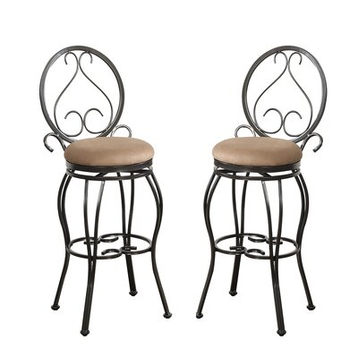 Bobkona Oswell 29 Swivel Bar Stool