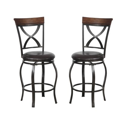 Bobkona Daisy 24 Swivel Bar Stool